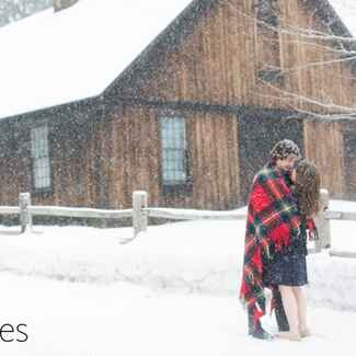 Christmas Tree Cutting Engagement Shoot |Kay English Photography | blog.theknot.com