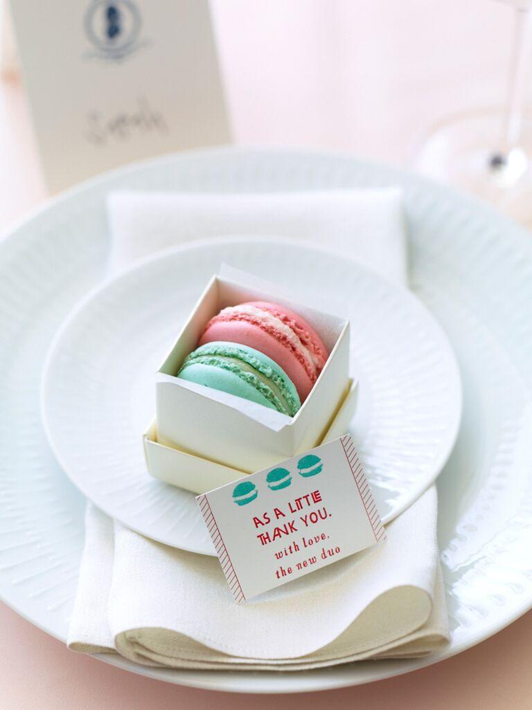 Cute Wedding Favor Idea With Macarons