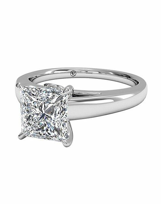 Ritani Princess Cut Solitaire Diamond Cathedral Engagement Ring with Surprise Diamonds in 18kt White Gold (0.04 CTW) Engagement Ring photo