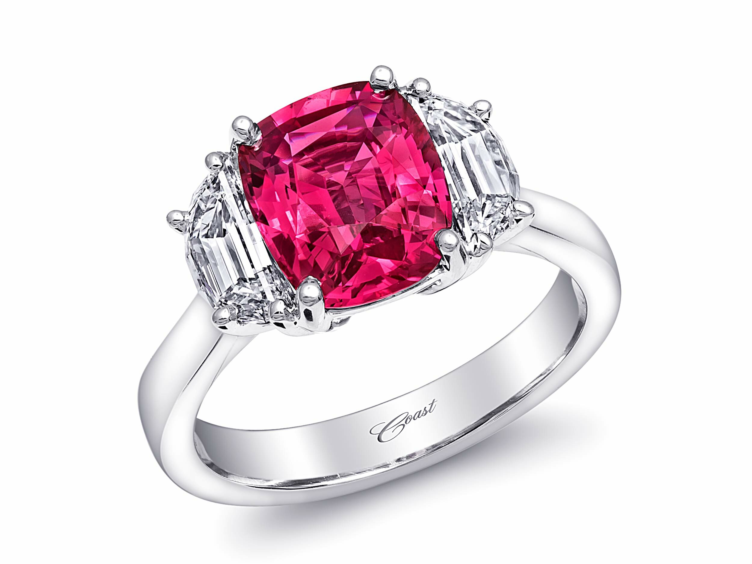 pink front diamonds ring forevermark rings lugaro fancy diamond stone collections colored engagement