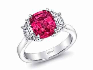 coast diamond pink sapphire engagement ring - Pink Wedding Ring