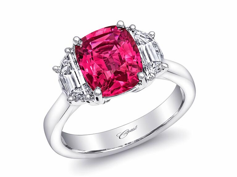 Coast Diamond pink sapphire engagement ring.