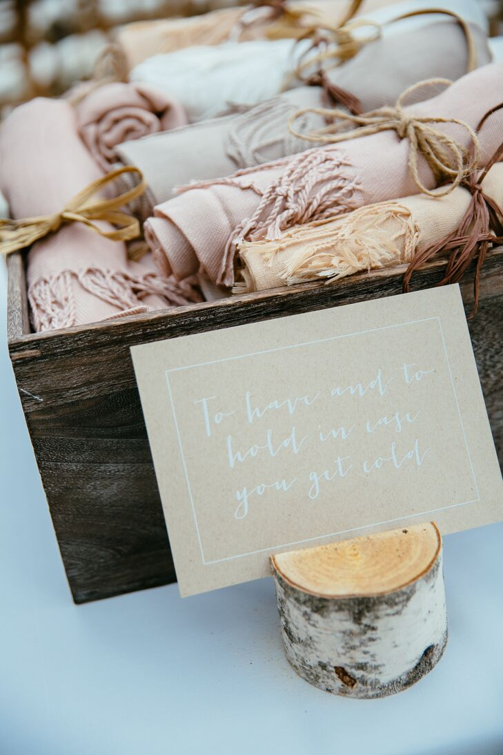 Blush and Peach Shawl Wedding Favors