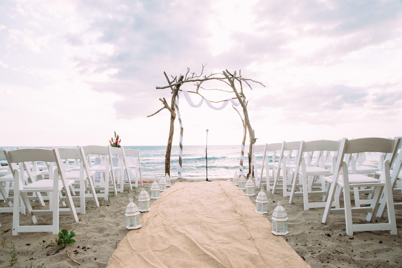 Beach Ceremony Driftwood Wedding Arch