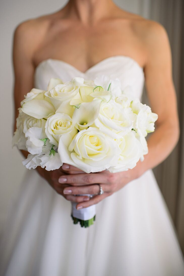 wedding flowers maryland ivory and calla bridal bouquet 9608