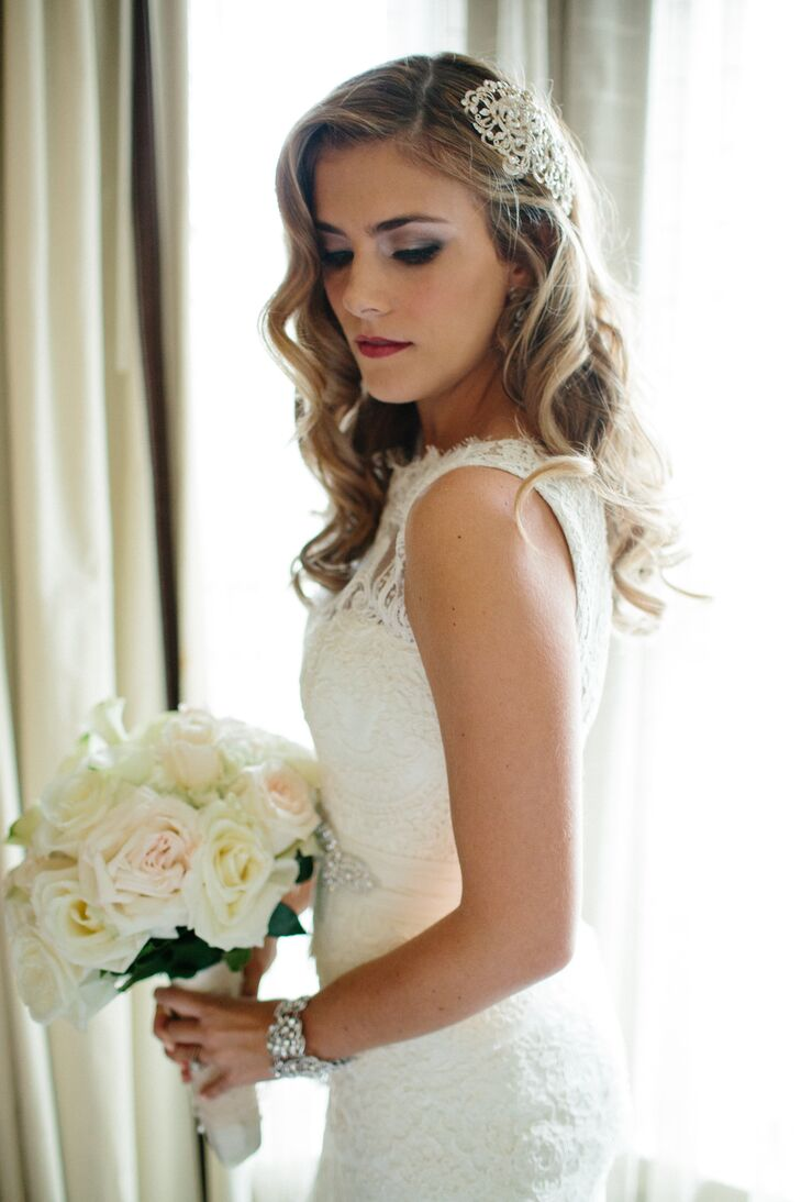 Old-Hollywood Bridal Hairstyle