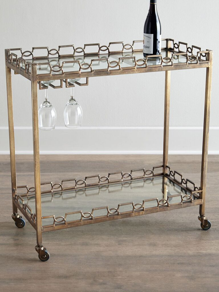 Hamilton Bar Cart wedding registry item