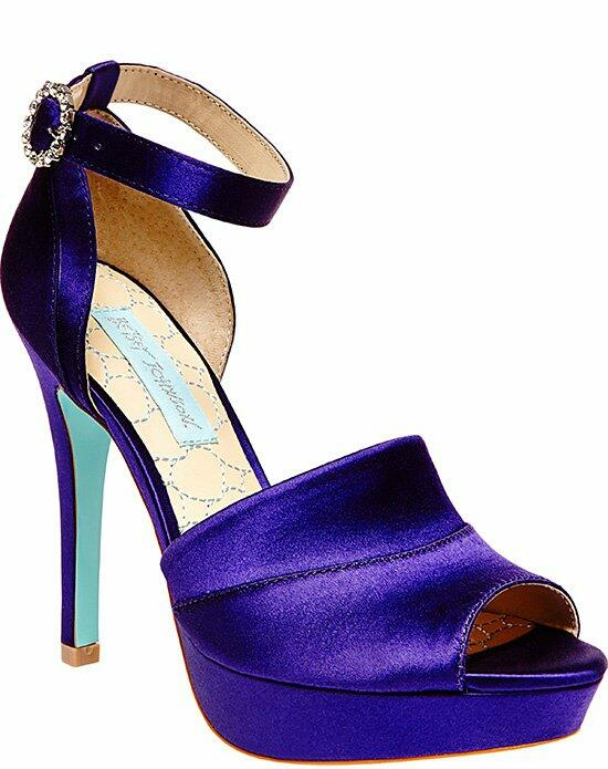 Blue by Betsey Johnson SB - SILK-Purple Wedding Shoes photo