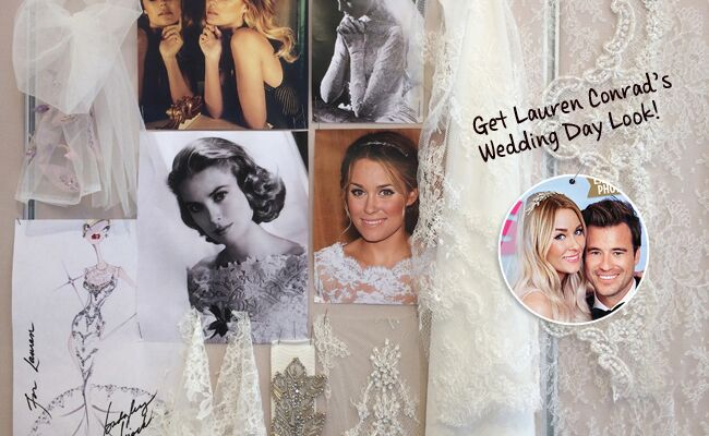 See Lauren Conrad's Wedding Dress Sketch and Inspiration Board (and Get the Look!)