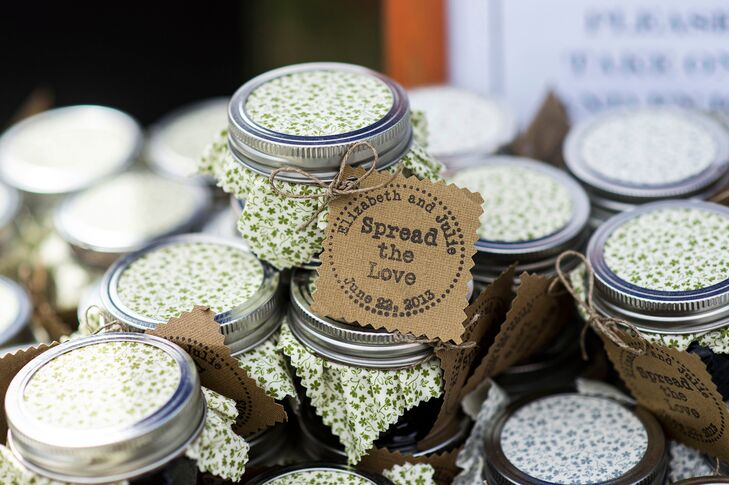 huckleberry jam wedding favors