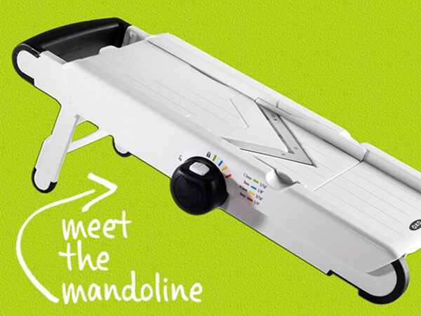 It seems fancy, but using a mandoline is easier than it looks.