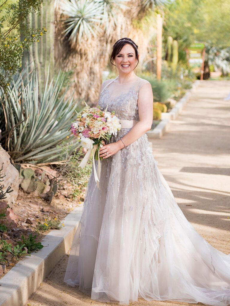25 princess wedding gowns with beading crystals and embellishments grey bhldn wedding dress with crystal embellishments ombrellifo Choice Image