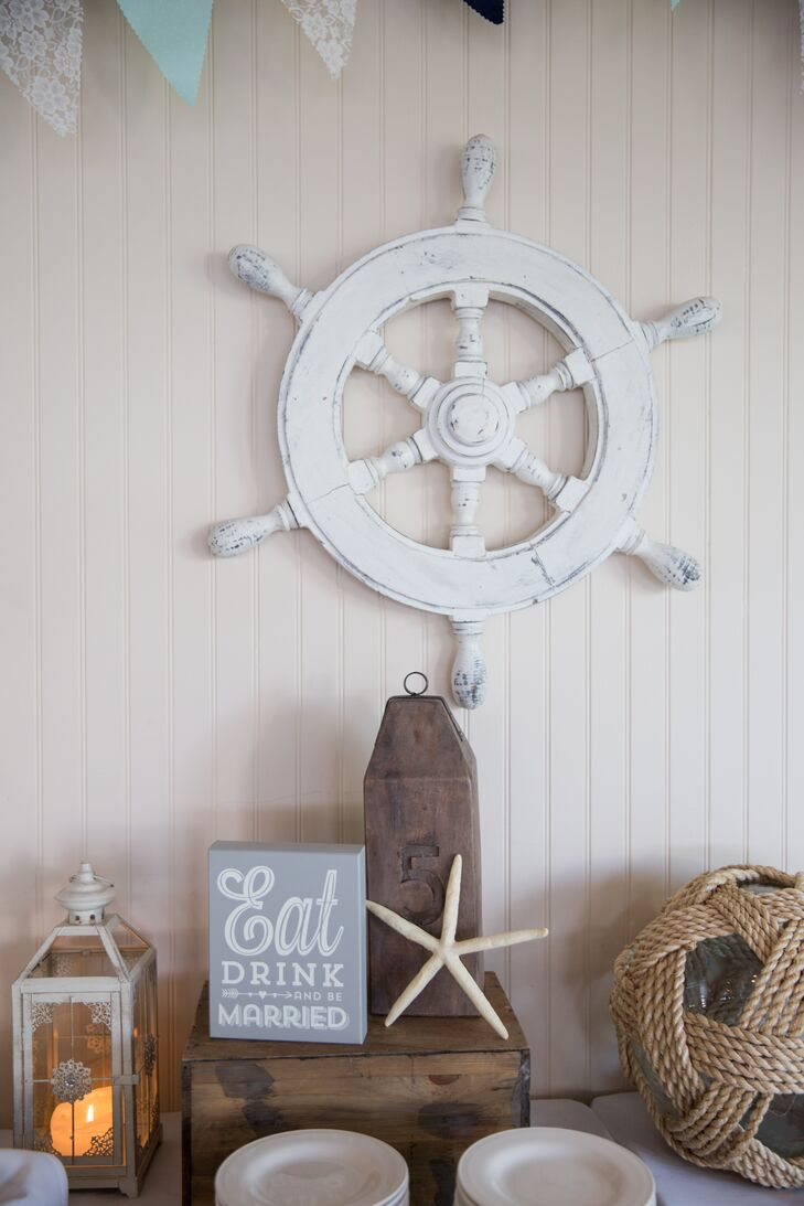 rustic nautical reception decorations