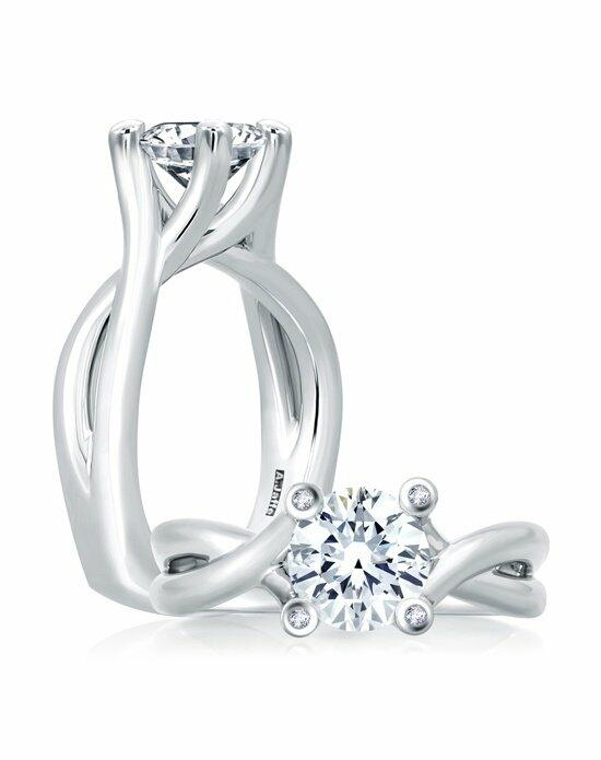 A.JAFFE Urban Vine Signature Bubble Solitaire Engagement Ring, MES463 Engagement Ring photo