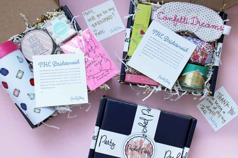 Packed Party bridesmaid gift box