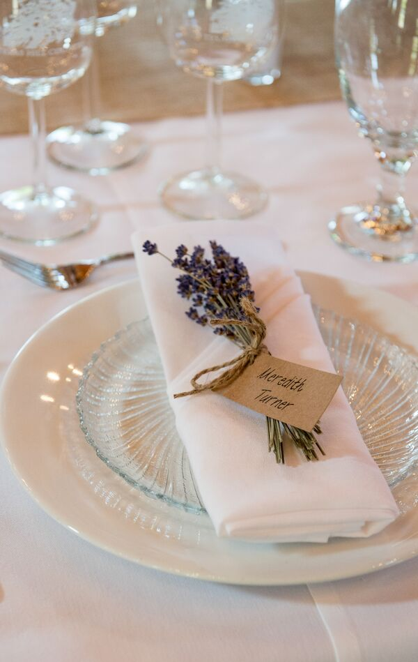 Custom Lavender Bunch Escort Card