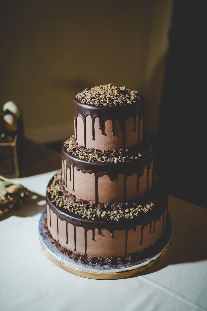 Three Tier Chocolate Wedding Cake