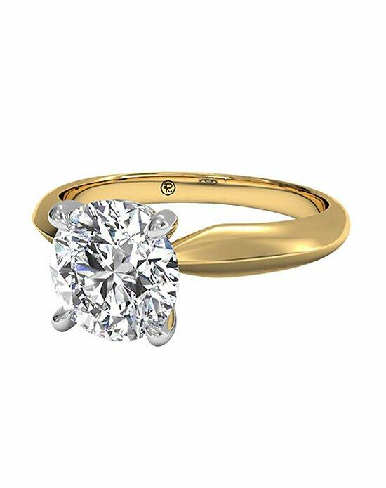 Ritani Round Cut Solitaire Diamond Knife-Edge Engagement Ring with Surprise Diamonds in 18kt Yellow Gold (0.04 CTW) Engagement Ring photo
