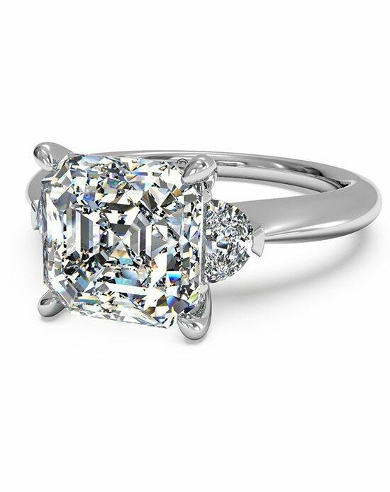 Ritani Asscher Cut Three-Stone Diamond Engagement Ring With Half-Moon Side Diamonds Engagement Ring photo