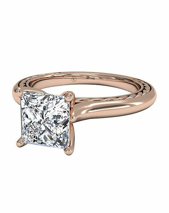 Ritani Princess Cut Solitaire Diamond Braided Engagement Ring in 18kt Rose Gold Engagement Ring photo