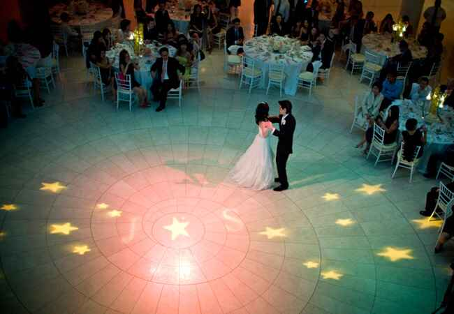 Star Projection on Dance Floor