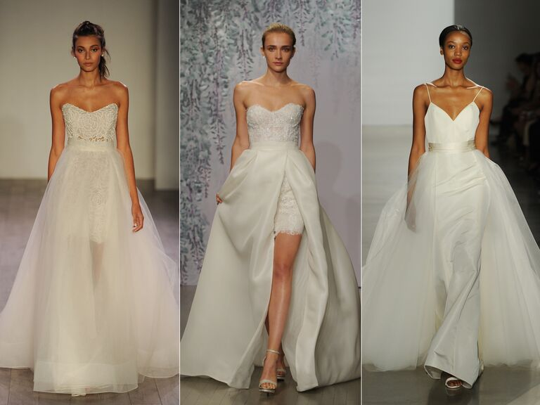 Wedding dresses with detachable skirts