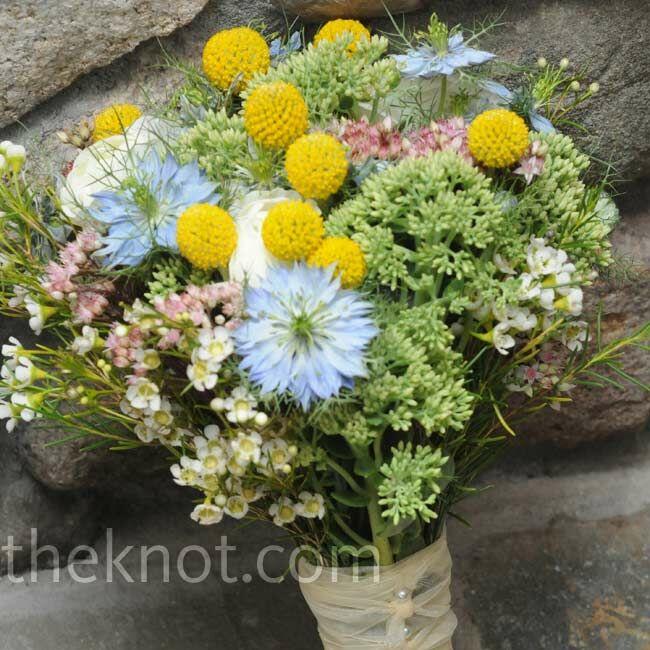 Wild Flowers For Weddings: Pastel Wildflower Bouquet