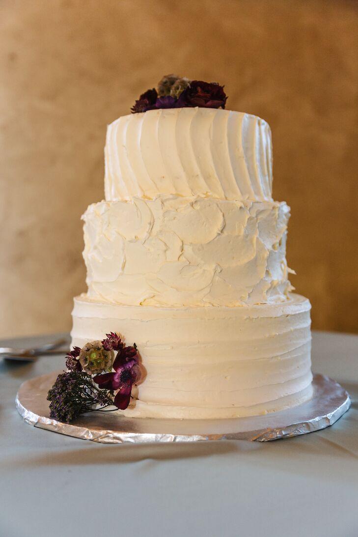 Three-Tier Textured Buttercream Rustic Cake
