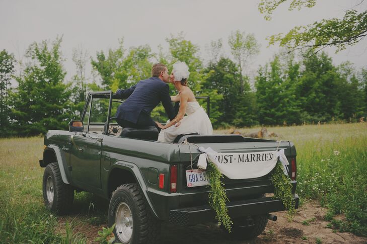 """Phil and I love the outdoors, creating things together, music and entertaining,"" Brittany says. ""We also love our old little 1977 Ford Bronco!"""