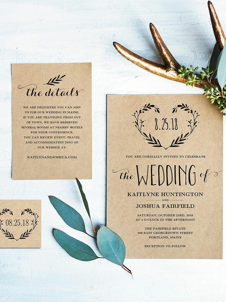 Gorgeous image for free printable rustic wedding invitations