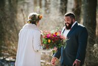 Walking in a winter wonderland, indeed. This seasonal wedding filled with boho style truly reflected Paula Bartosiewicz (27 and a creative wedding and