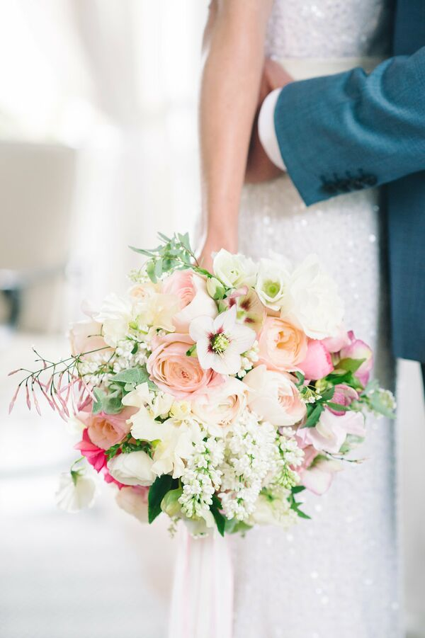 Romantic Blush and Ivory Garden-Inspired Bouquet
