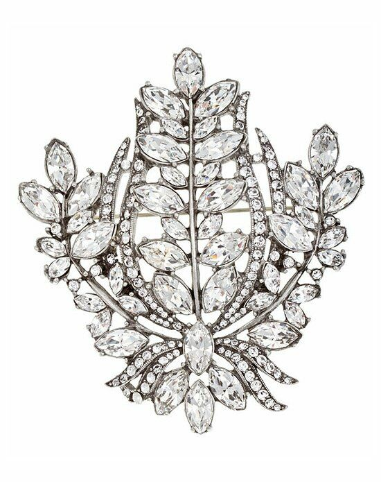 Thomas Laine Bridal Multi Crystal Pin Wedding Accessory photo