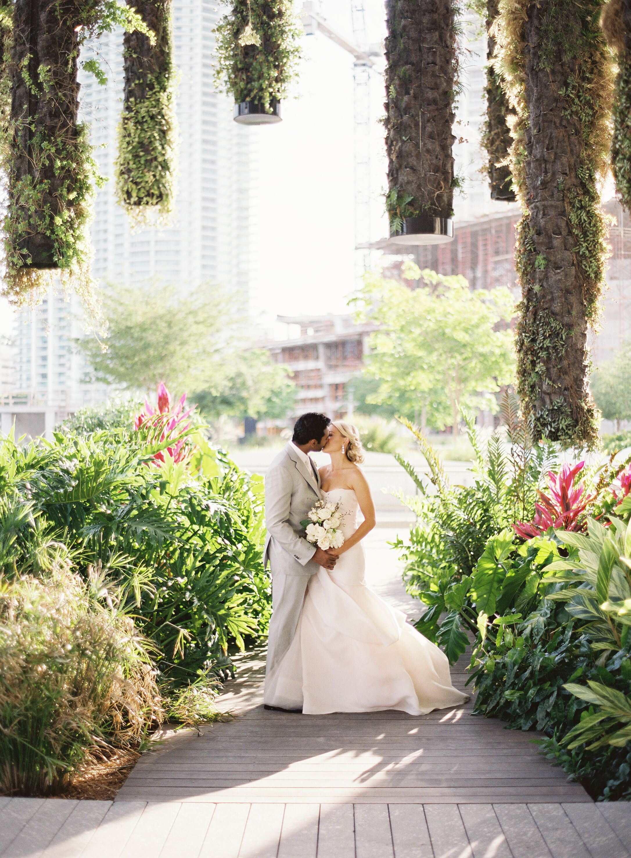 An Elegant Modern Garden Wedding At Perez Art Museum