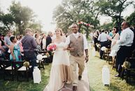 Victoria Nunez (28 and a family medicine physician) and Evan Colmenero (29 and a family medicine physician) threw a colorful fiesta outdoor wedding at