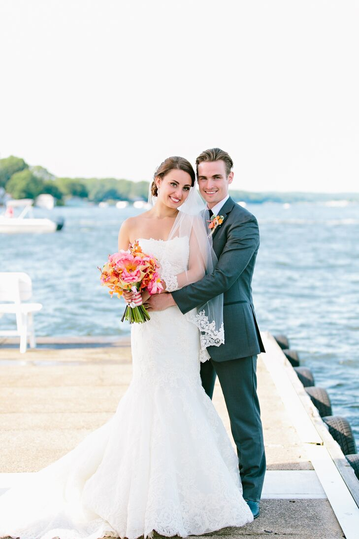 A C And Navy Nautical Wedding At Lake Hopatcong Yacht Club In New Jersey