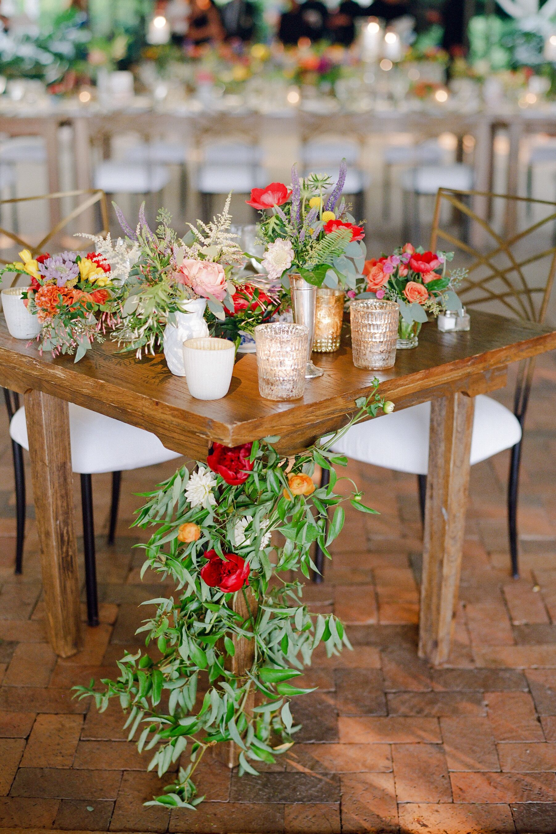Garland Accented Sweetheart Table