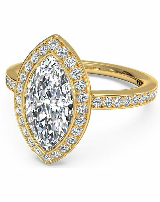 Ritani Marquise Cut Halo Micropave Diamond Band Engagement Ring in 18kt Yellow Gold (0.29 CTW) Engagement Ring photo