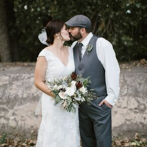 Vintage Inspired Bride And Groom Outfits