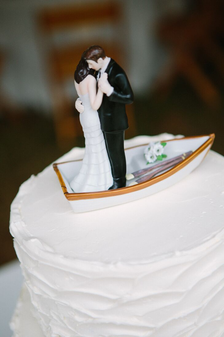 boat wedding cake topper and groom rowboat cake topper 1991