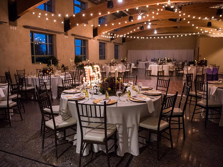 wedding reception room at springs preserve in las vegas.