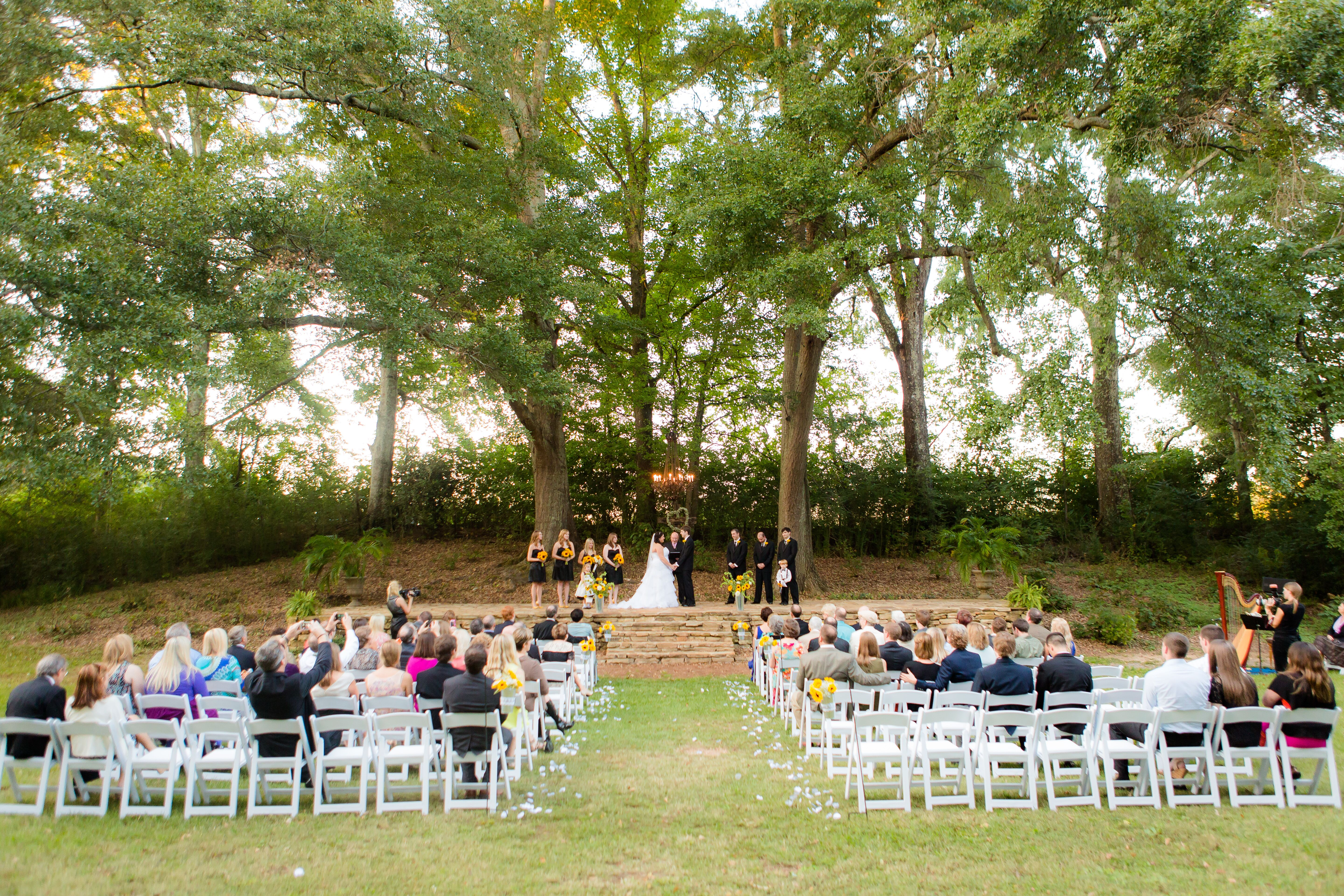 Wedding Ceremony In Micah S Meadow At Mathews Manor