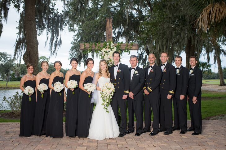 Traditional Black Wedding Party and Military Officers