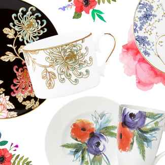 floral dinnerware by Lenox