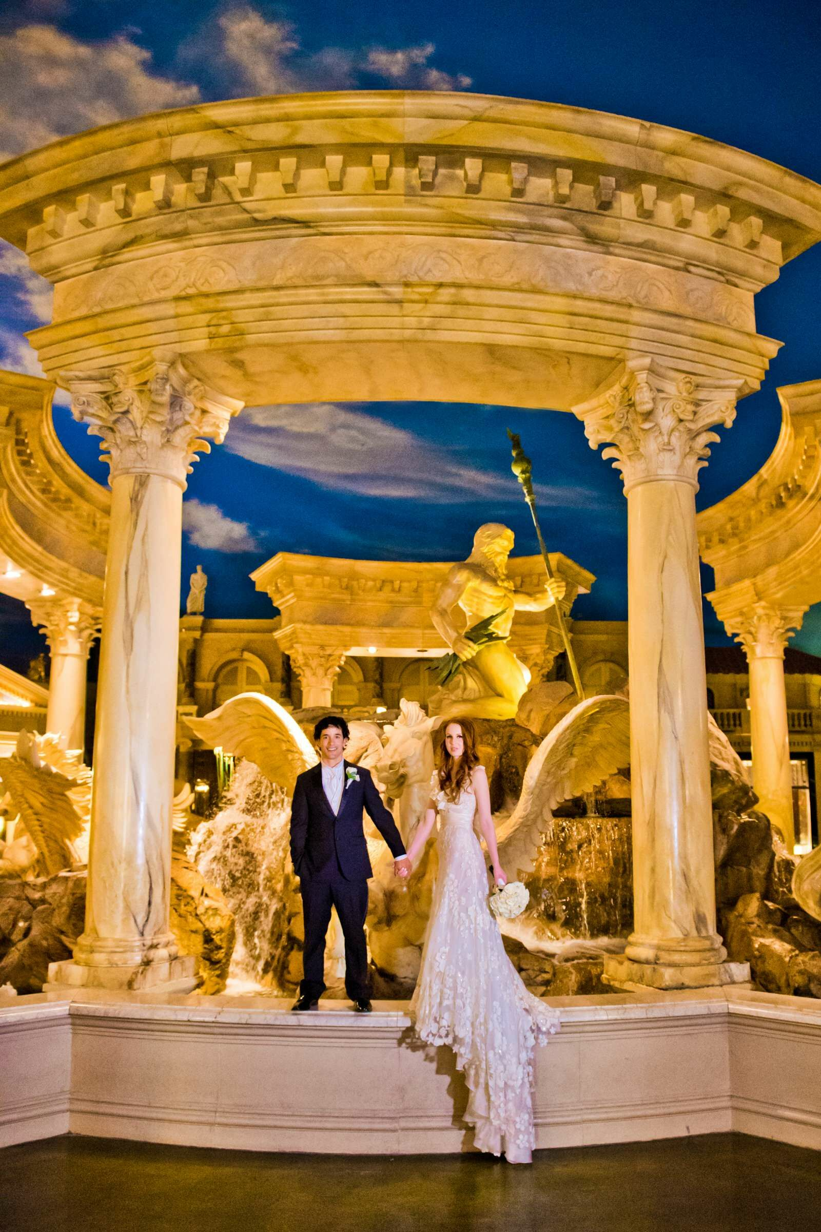 A Luxe, Glam Wedding At Caesars Palace In Las Vegas, Nevada