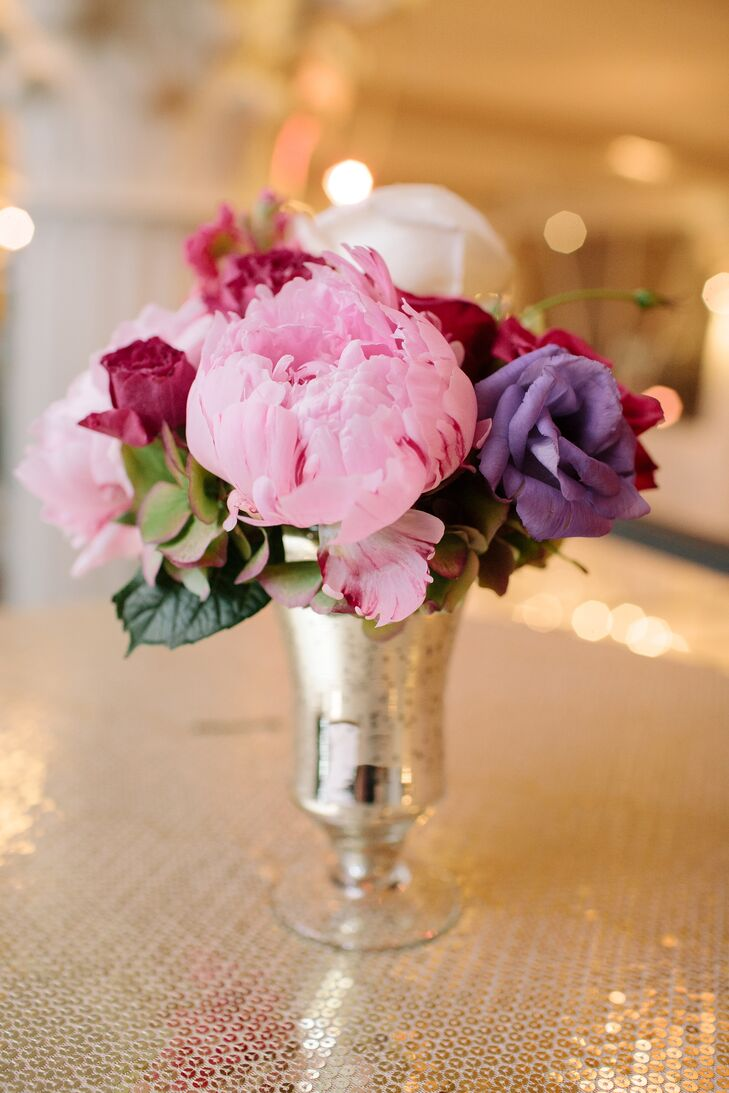 Colorful Pink and Purple Floral Arrangement
