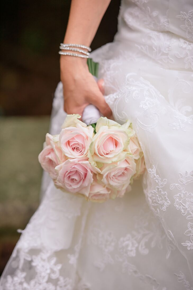 Blush Rose Bouquet for Ängelholm, Sweden Bride