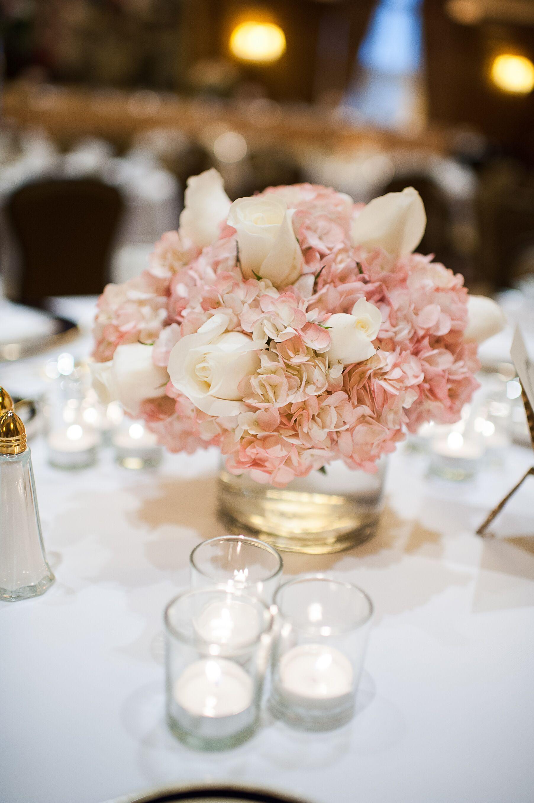 Pink Hydrangea Centerpieces