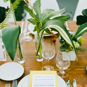 Yellow And White Place Settings