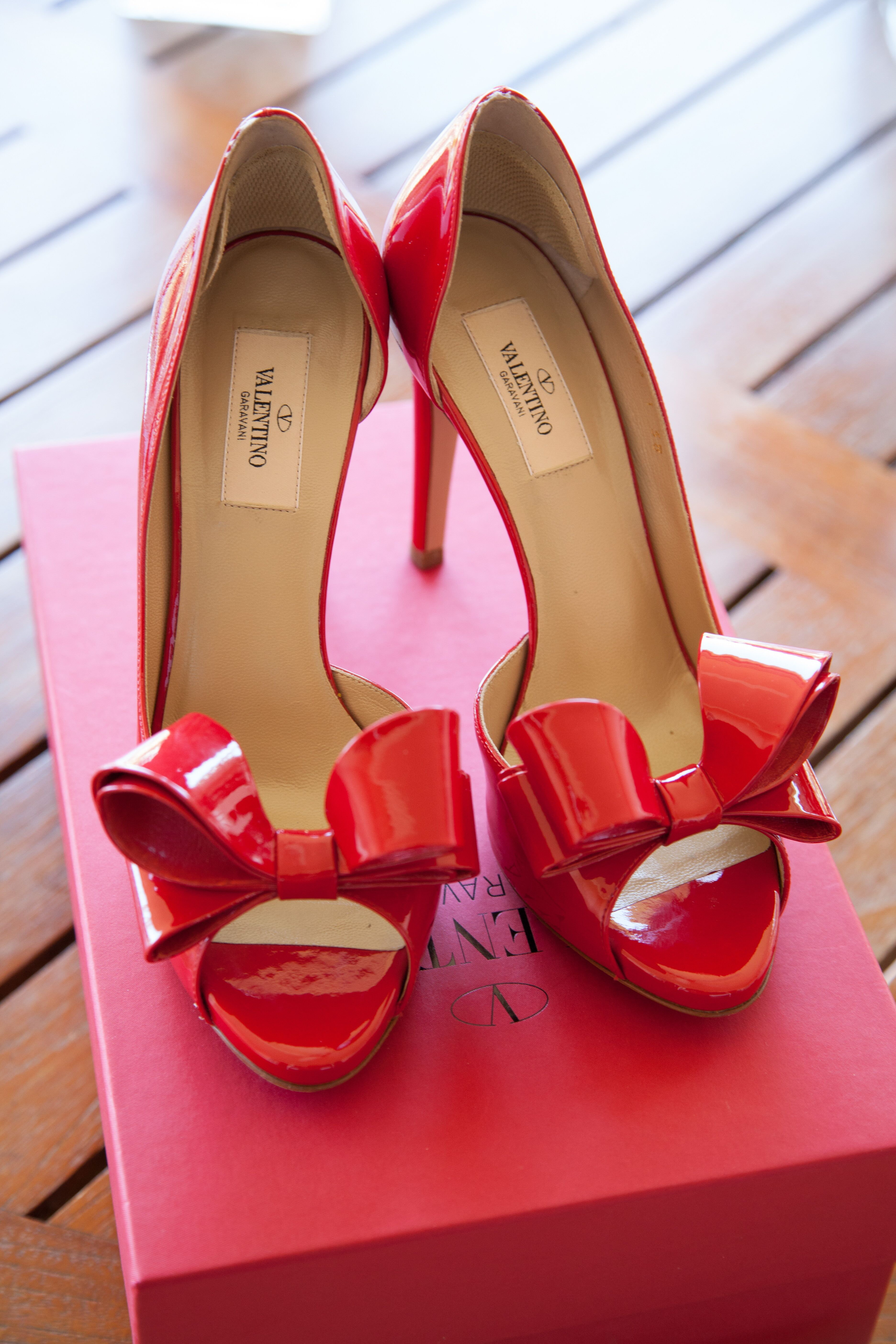 With Detail Valentino Shoes Bow Red 5R3jLA4